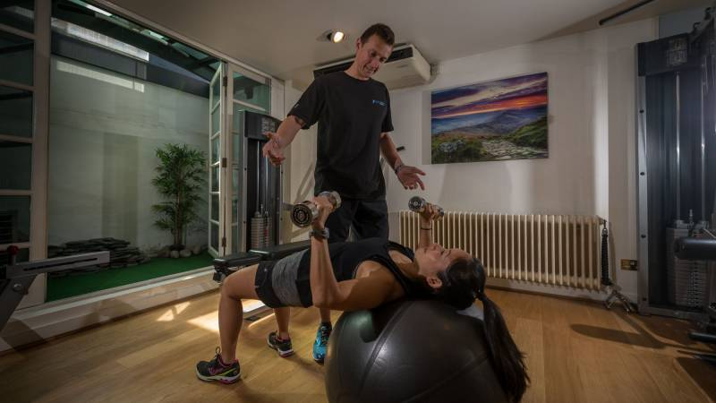 Personal trainer at pete fraser fitness