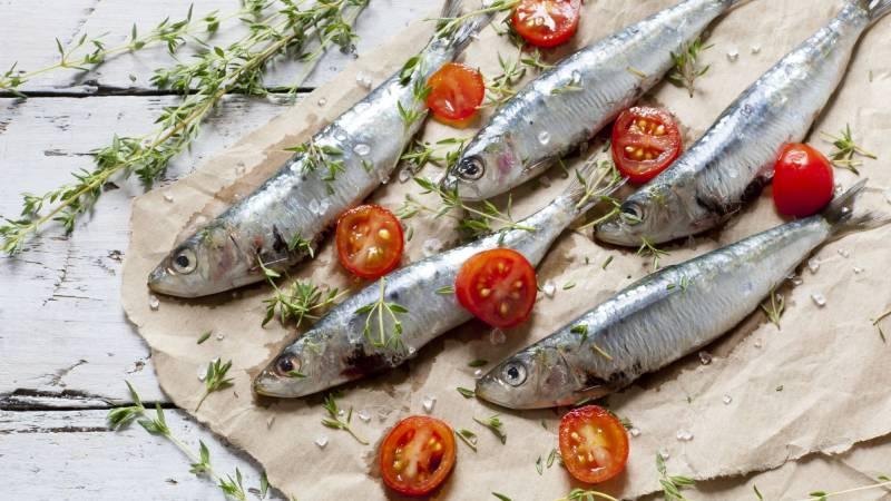 Cooked sardines