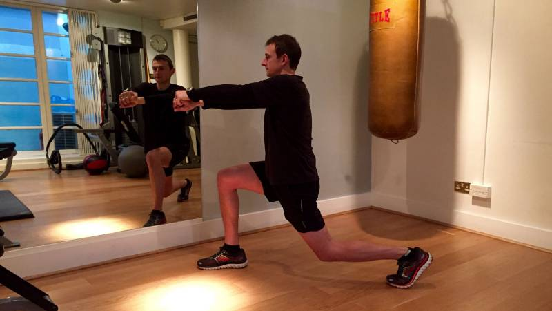 Lunge end position
